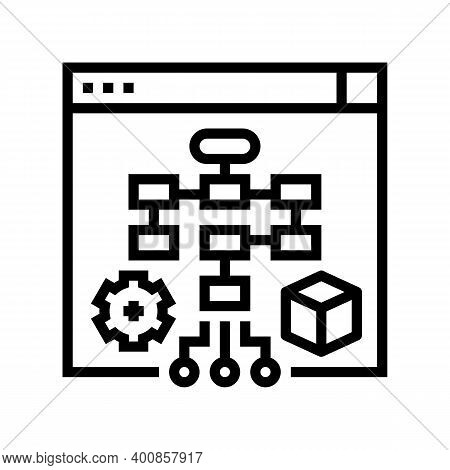 Process System Line Icon Vector. Process System Sign. Isolated Contour Symbol Black Illustration