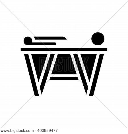 Preparation For Gluing Wallpaper Glyph Icon Vector. Preparation For Gluing Wallpaper Sign. Isolated