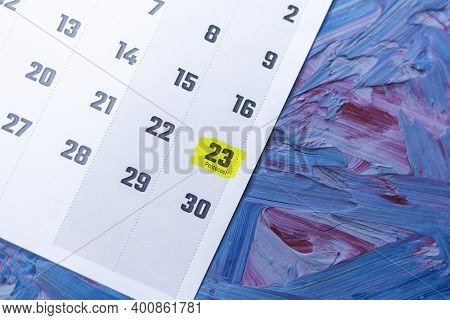 Pentecost Holiday Highlighted In May 2021 Calendar. May Monthly Calendar On Blue Background