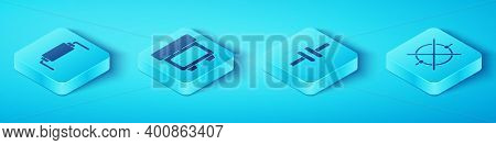 Set Isometric Resistor Electricity, Fuse, Electric Circuit Scheme And Electric Circuit Scheme Icon.