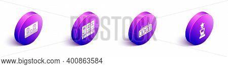 Set Isometric Hockey Mechanical Scoreboard, Locker Or Changing Room, Hockey Mechanical Scoreboard An