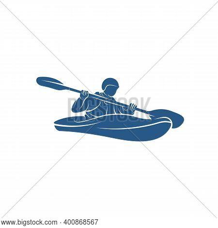 Rafting Design Vector Illustration, Creative Rafting Logo Design Concepts Template, Icon Symbol