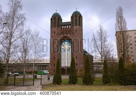 Holy Cross Cathedral In Kaliningrad, Russia. Orthodox Cathedral