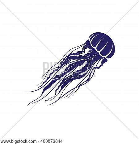 Jellyfish Design Vector Illustration, Creative Jellyfish Logo Design Concepts Template, Icon Symbol
