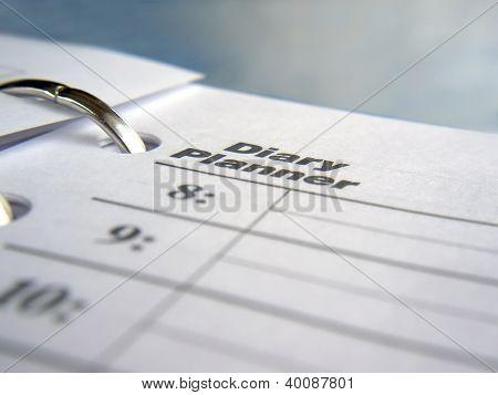 notebook with calendar