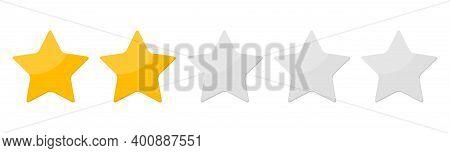 Two 2 Star Rank Background. Vector Illustration. Eps10