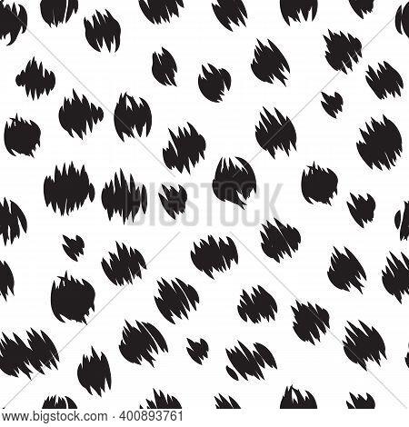 Cheetah Skin Seamless Pattern Round Cheetah Spots Print