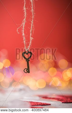 Key Of My Heart, Love Valentine Concept. Key Of My Heart, Love Valentine Concept.  Valentine's Card,