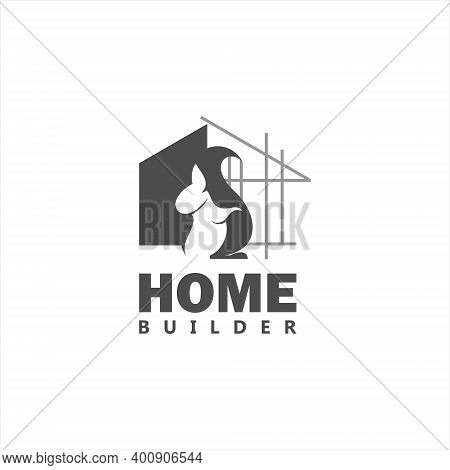 Home Build Logo Design Template For Property Or Realty Construction And Renovation Idea