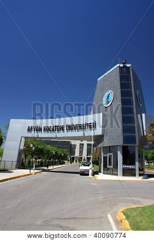 Entrance Of Afyon Kocatepe University, Afyonkarahisar, Turkey - Vertical