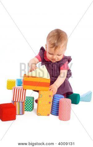 Baby Spiel mit Spielzeug Blöcke