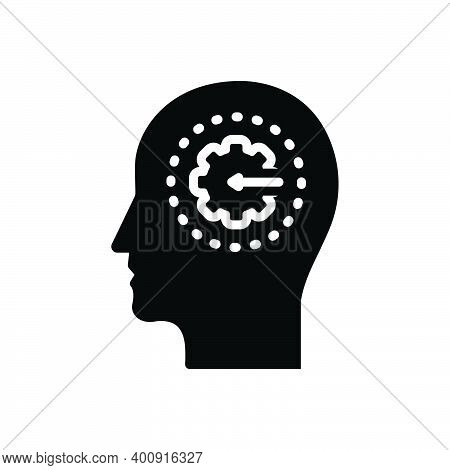 Black Solid Icon For Transformation Brain Change Variation Alteration Shift Modification Renewal Thi