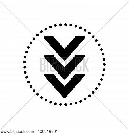 Black Solid Icon For Down Below Under Beneath Underneath Arrow Download Downward