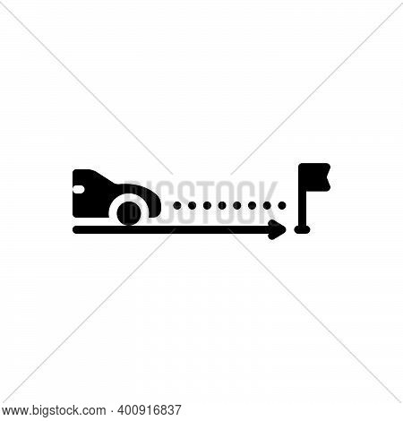 Black Solid Icon For Expectation Expectancy Expectance Assumption Confidence Car Transport Prospect