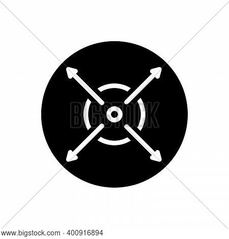 Black Solid Icon For Extent Limit Range Zone Realm Midpoint Size Fullscreen Enlarge Enhance