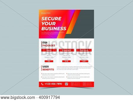 Security Camera Flyer. Cctv Promotion Flyer. Surveillance Camera Advertising Template