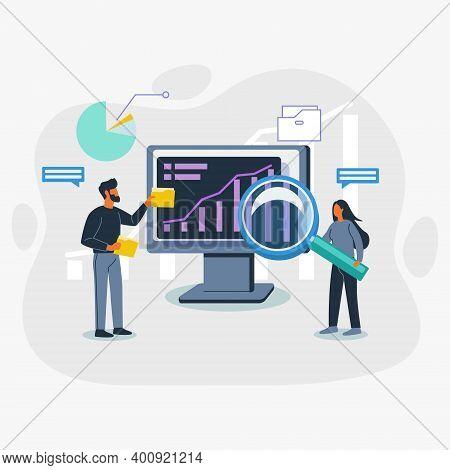 Analyzing Data Vector Illustration Concept, Data Analyzing Illustration
