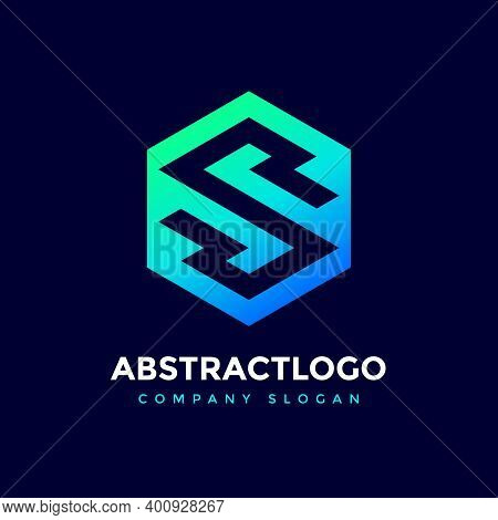 Letter S Logo Icon Design Template Elements, Initial Letter Logo S Inside Polygon Shape, S Font Logo