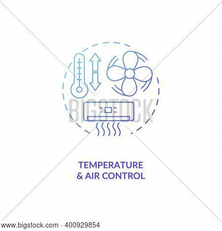 Temperature And Air Control Concept Icon. Control Room Ergonomics Idea Thin Line Illustration. Human