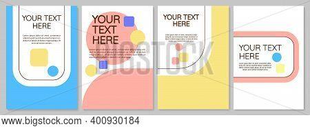 Multipurpose Brochure Cover Template Set. Corporate Simple Flyer, Booklet, Leaflet Print, Cover Desi