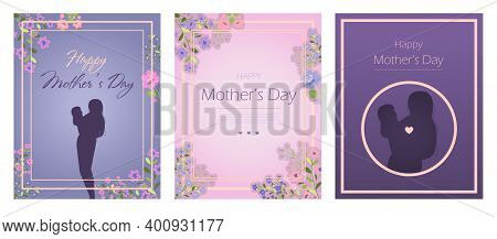 Ard For The International Mother S Day. Vector Illustration With Text, Flowers And Greetings. A Woma