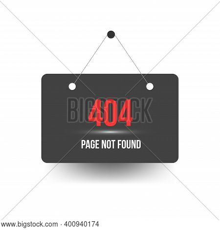 404 Error. Page Not Found Template With Banner Sign. Design For Web Page - Disconnect Banner For Web