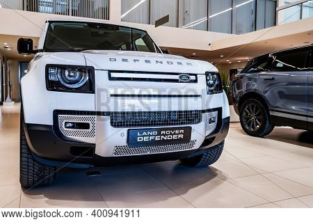 Rostov-on-don, Russia - 7 December 2020: Land Rover Defender, New Popular Model