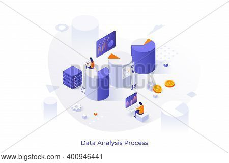 Giant Diagrams, Charts Or Graphs And People Analyzing Statistical Or Financial Information, Analysts