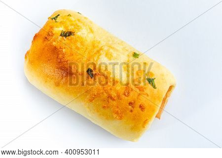 Savory Snacks Typical Of Brazil. Selective Focus. Space For Text. White Background