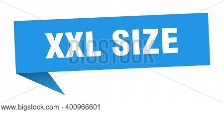 Xxl Size Speech Bubble. Xxl Size Ribbon Sign. Xxl Size Banner