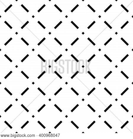 Seamless Pattern. Slanted Dashes, Squares Background. Tilted Strokes, Dots Wallpaper. Angled Stripes