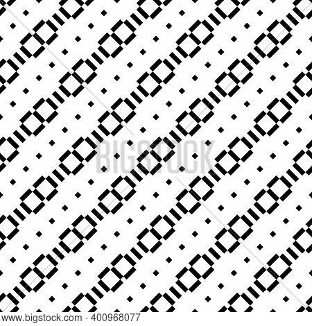 Seamless Pattern. Diagonal Lines, Rectangles, Diamonds Ornament. Slanted Dashes, Squares, Figures Ba