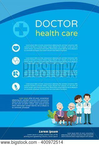 Elderly Care Concept ,doctor And Elderly Healthcare Background Poster.doctor For Elderly Patients Ba