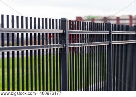 Iron Black Fence Metal Steel Park Border Decor
