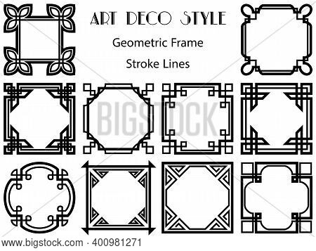 Frames Simple Customary Set. Groundwork Element Of Decor. Square Panels Picture Border Frames. Colle