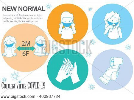 New Normal For Societal Habits.your Practical Guidelines To Prevent Corona Virus Spreading, Wear A P