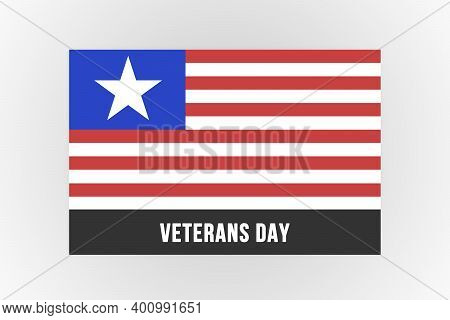 Thank You For Your Service Veterans. Veterans Day, Honoring All Who Served. American Flag On The Bac