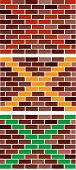 Vector abstract brick wall as traffic light poster