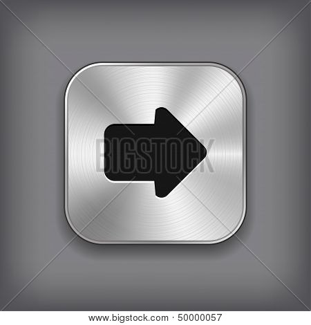 Arrow Icon - Vector Metal App Button