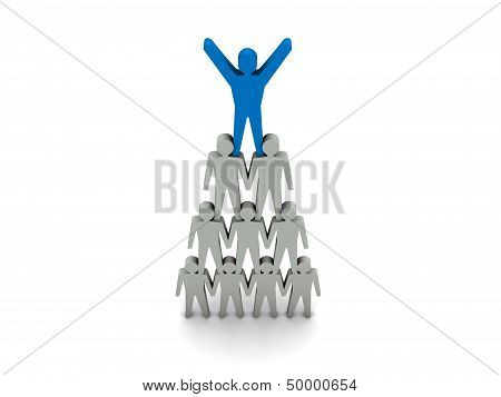 Team success. Leadership. Concept 3D illustration.