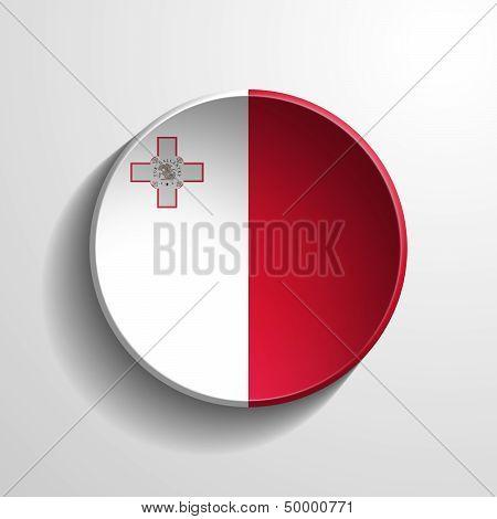 Malta 3D Round Button