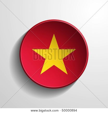Vietnam 3D Round Button