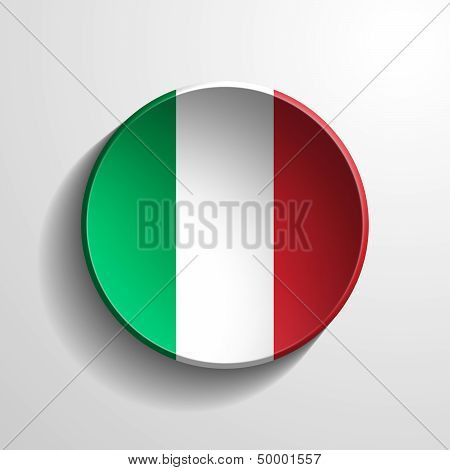 Italy 3D Round Button
