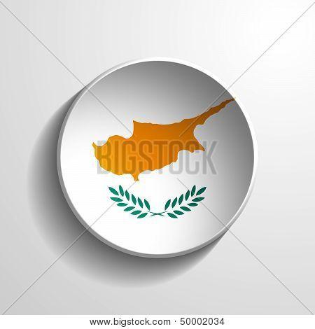 Cyprus 3D Round Button