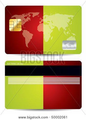 Bicolor Background Credit Card