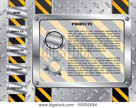 Metallic Plate Construction Template