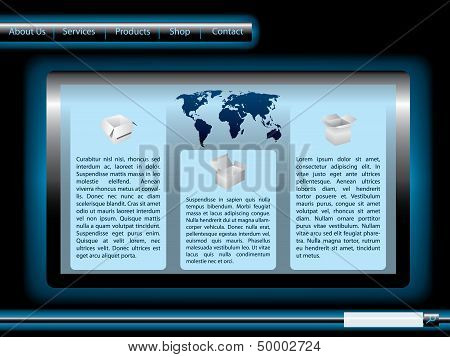 Blue And Black Shiny Web Template
