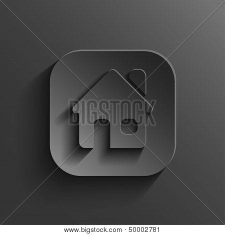 Home Icon - Vector Black App Button