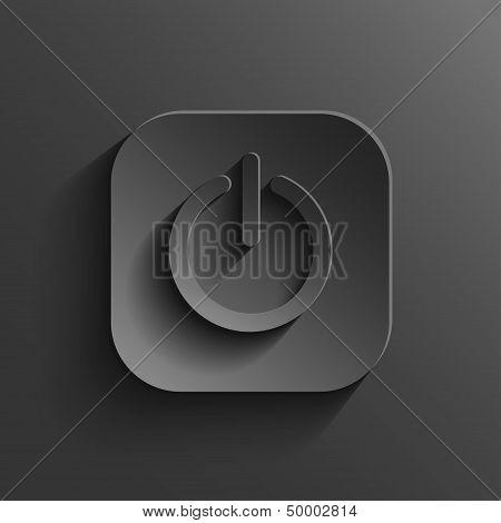 Power Icon - Vector Black App Button