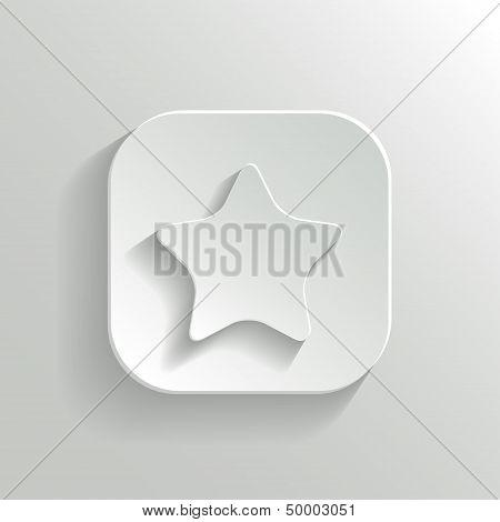 Star Icon - Vector White App Button